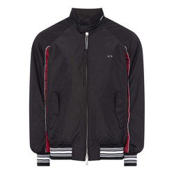 Contrast Trim Blouson Jacket