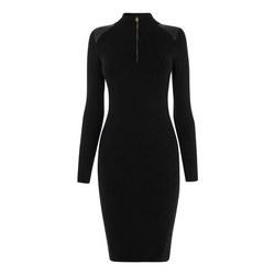 Shoulder Panel Bodycon Dress