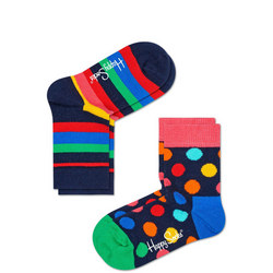 Babies Spot Stripe Socks Two-Pack