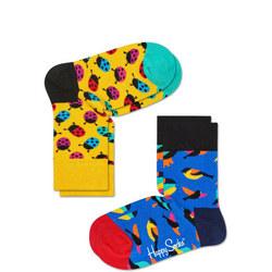Kids Ladybird Socks Two-Pack