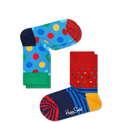 Kids Spot Stripe Socks Two-Pack