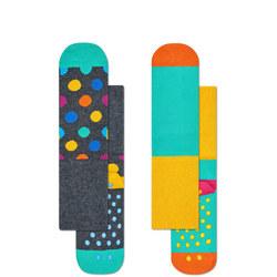Babies Spot Anti-Slip Socks Two-Pack
