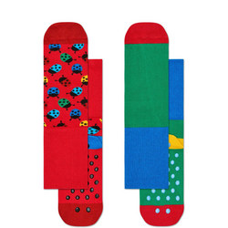 Babies Ladybird Anti-Slip Socks Two-Pack