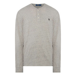 Embroidered Logo Henley Top