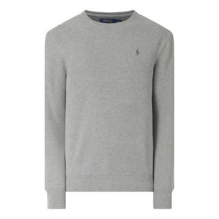Crew Neck Textured Sweat Top