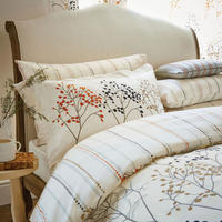 Pippin Duvet Set Charcoal-Coral