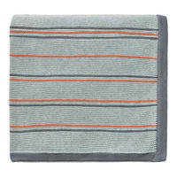 Pippin Knitted Throw Charcoal-Coral