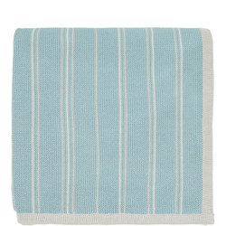 Pippin Knitted Throw Teal-Linen