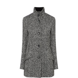 Herringbone Tweed Coat