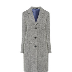 Emma Herringbone Cashmere Wool Coat