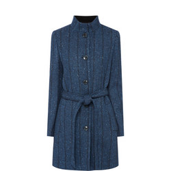 Owenea Herringbone Donegal Tweed Coat