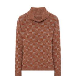 Turtleneck Patterned Sweater