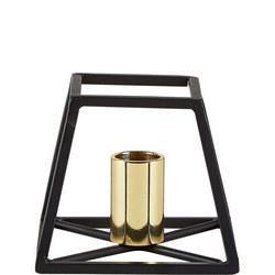 Metal Candle Holder Black/Gold