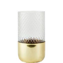 Metal And Glass Tea Light Holder