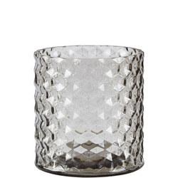 Glass Vase Smokey Grey