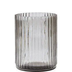 Glass Vase Smokey Grey