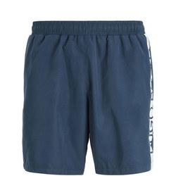 Dolphin Logo Stripe Swim Shorts