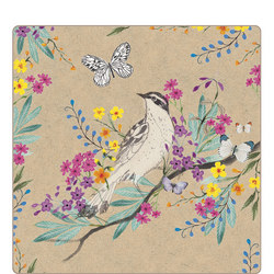Set of 4 Song Birds Place Mats