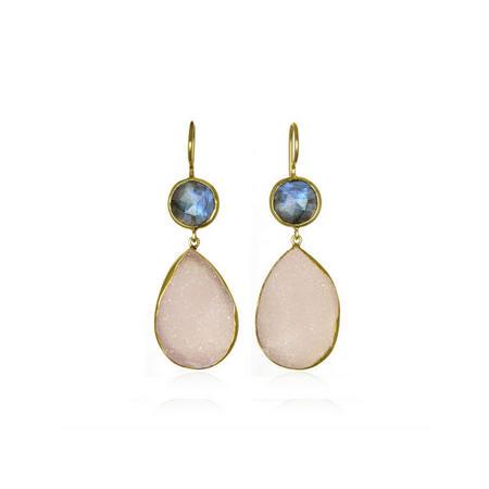 Margaret Elizabeth Pink Druzy Earrings