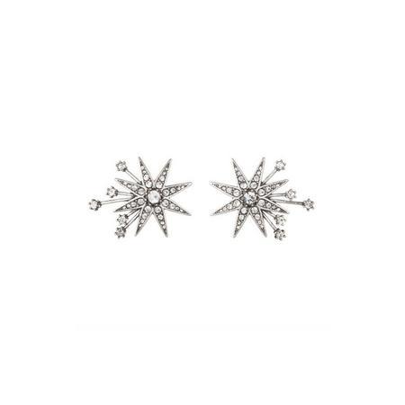 Lulu Frost Antique Silver Nova Stud Earrings