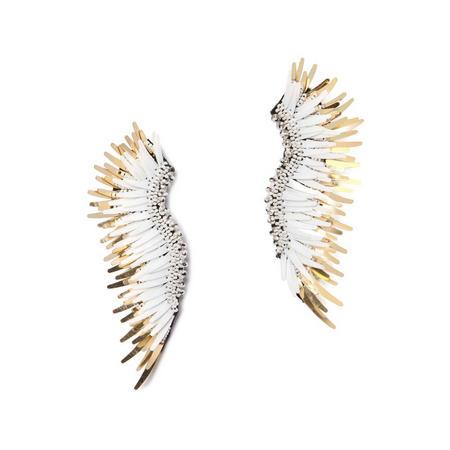 Mignonne Gavigan White & Gold Madeline Earrings