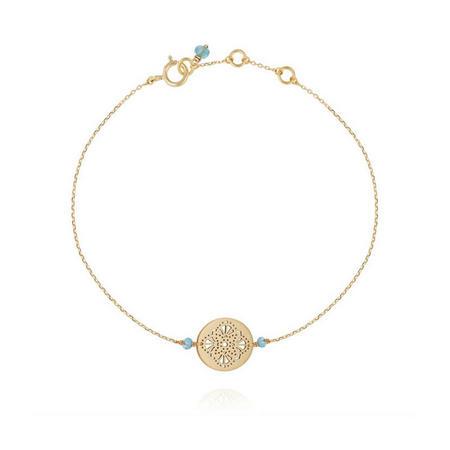 Perle De Lune Art Deco Medal Bracelet