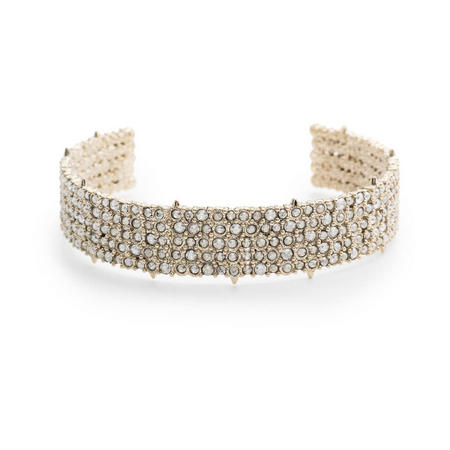 Alexis Bittar Crystal Lace Cuff Bangle