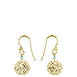 Perle De Lune Art Deco Medal Earrings
