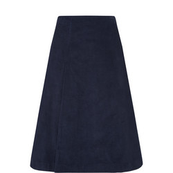 A-Line Midi Cord Skirt