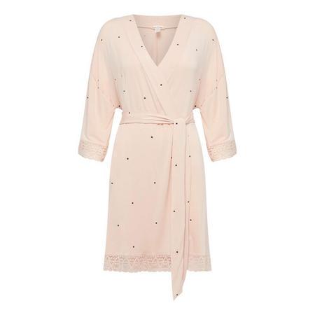Dotted Lace Cuff Robe