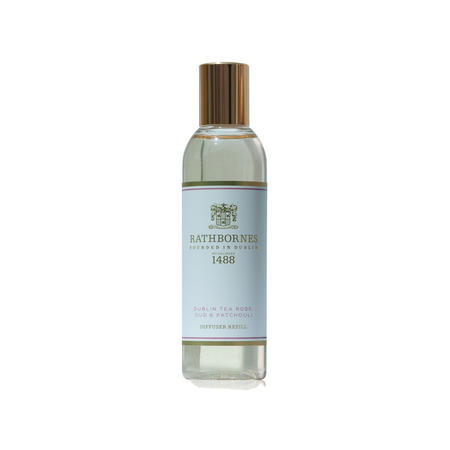 Dublin Tea Rose, Oud And Patchouli Scented Diffuser Refill
