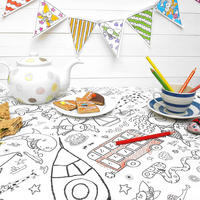Colour In Teatime Tablecloth