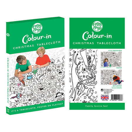 Colour In Christmas Tablecloth