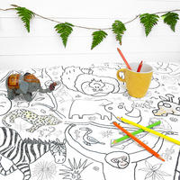 Colour In Amazing Animal Tablecloth