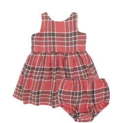 Gingham Dress And Bloomers Set