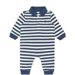 Striped Polo Onesie Baby