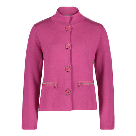 Funnel Neck Knitted Jacket