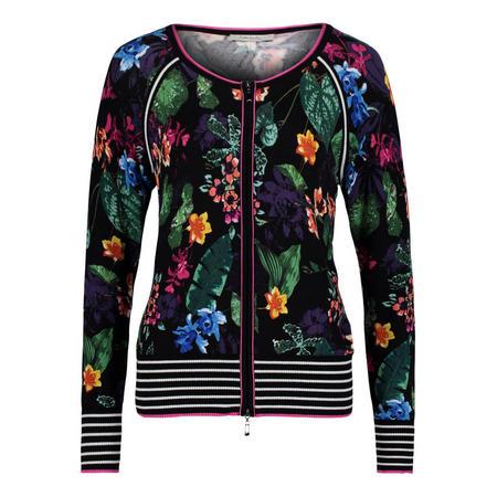 Zip Front Floral Jacket