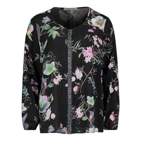 Floral Print Sequin Blouse