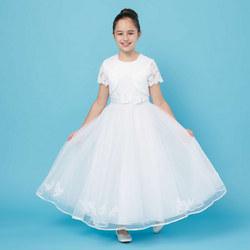 Two-Piece Rose Waistband Communion Dress