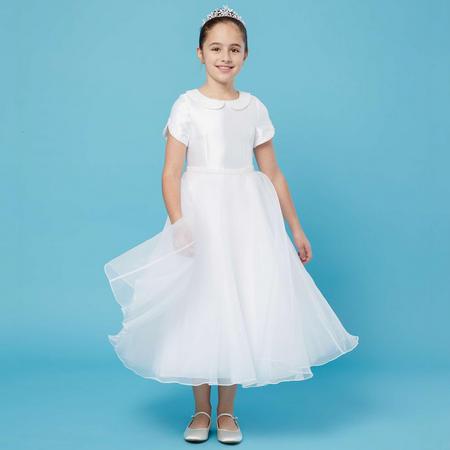 Pearl Collar Communion Dress