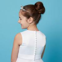 Plain Belt Communion Dress