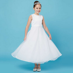 Plain Belt Communion Dress