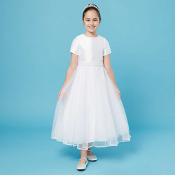 Pearl Belt Communion Dress