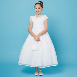 Lace Bodice Communion Dress