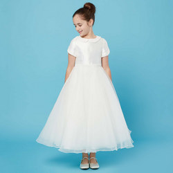 Pearl Collar Communion Dress