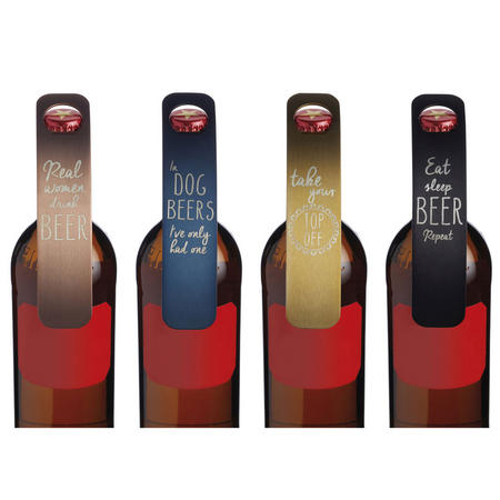 Slogan Bar Blade Bottle Openers