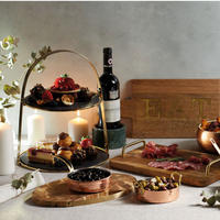 Two-Tier Stand with Round Slate Serving Platters