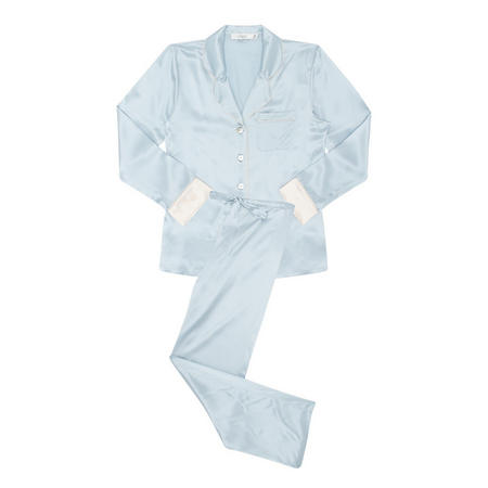 Piped Silk Pyjamas