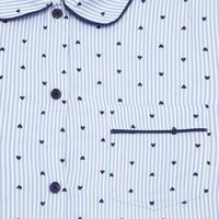 Micro Heart Print Pyjama Set